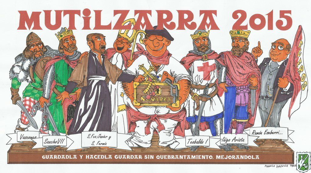Pancarta Peña Mutilzarra  San Fermín 2015